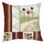 Patchwork and Applique cushion commissioned from Lesley Brankin