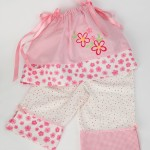 Embroidered girls nightwear created by Janome UK created on Memory Craft 12000