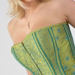 Embroidered bodice using AcuFill designs created by Janome UK
