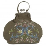 Embroidered handbag created by Janome UK created on MC12000